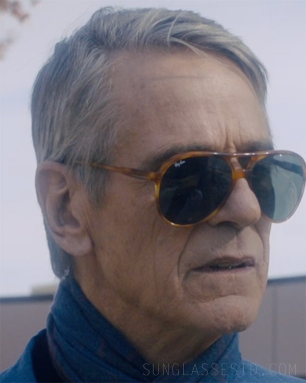 Jeremy Irons wears vintage Ray-Ban sunglasses in the movie An Actor Prepares (2018).