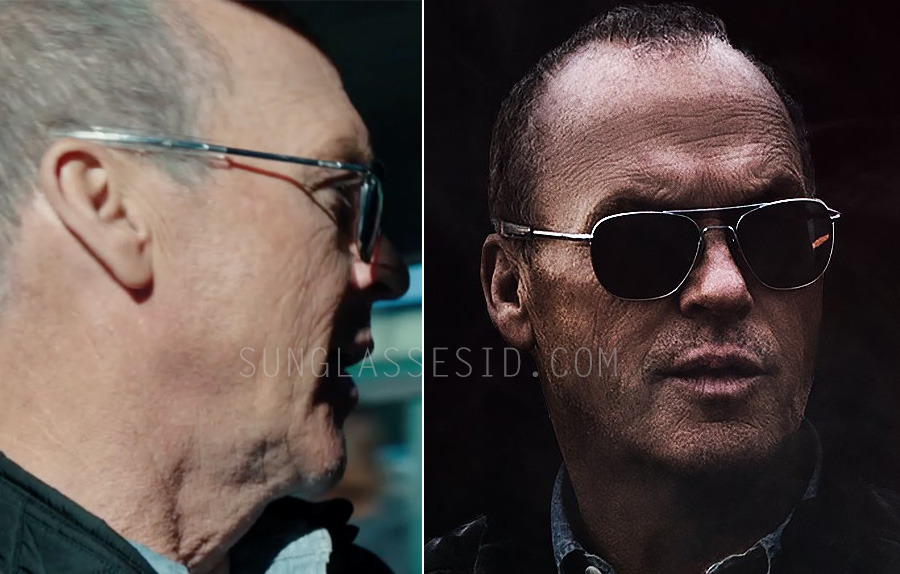 4a8ad132dc Michael Keaton is sporting RE Aviator sunglasses in American Assasin.