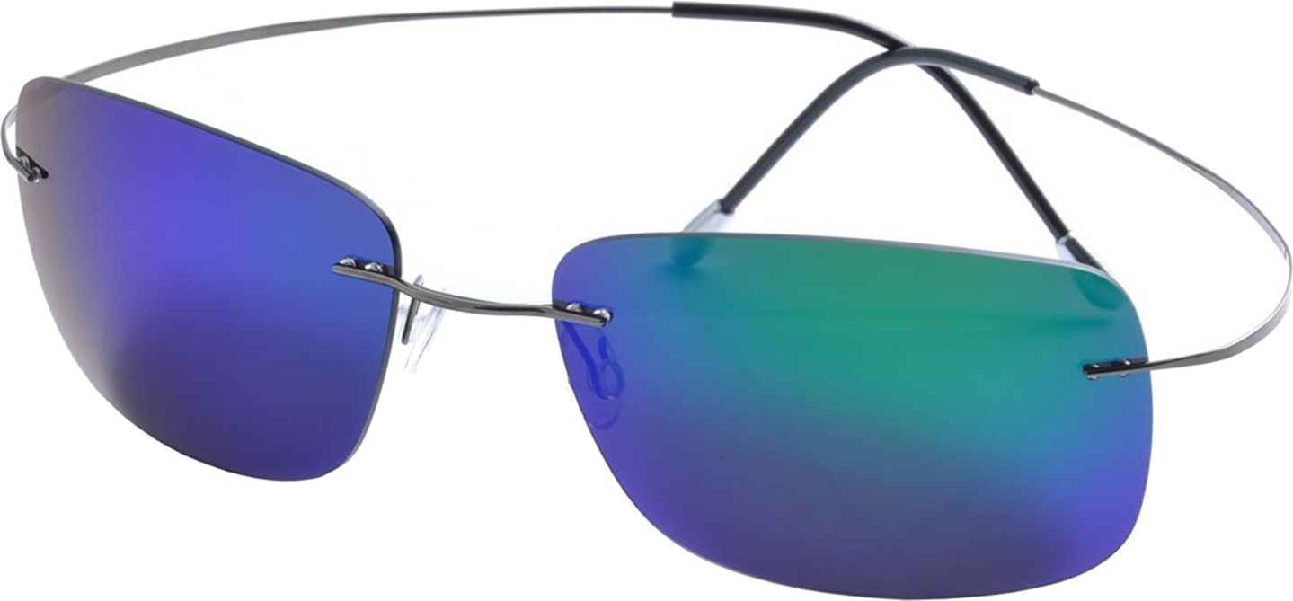 Light weight rimless sunglasses with flexible hingeless arms