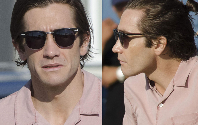 540ba9137a3 It looks like Jake Gyllenhaal is wearing Shuron Ronsir frames fitted with  sunglasses in Nightcrawler