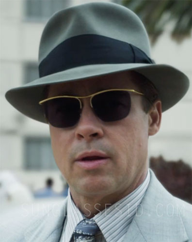 c1dd89ddafdd6 Gold Nylor sunglasses - Brad Pitt - Allied