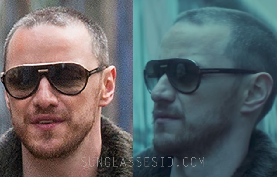 ab07bcf4146c5 James McAvoy wears black and gold Tom Ford Dimitry 0334S sunglasses in  Atomic Blonde.