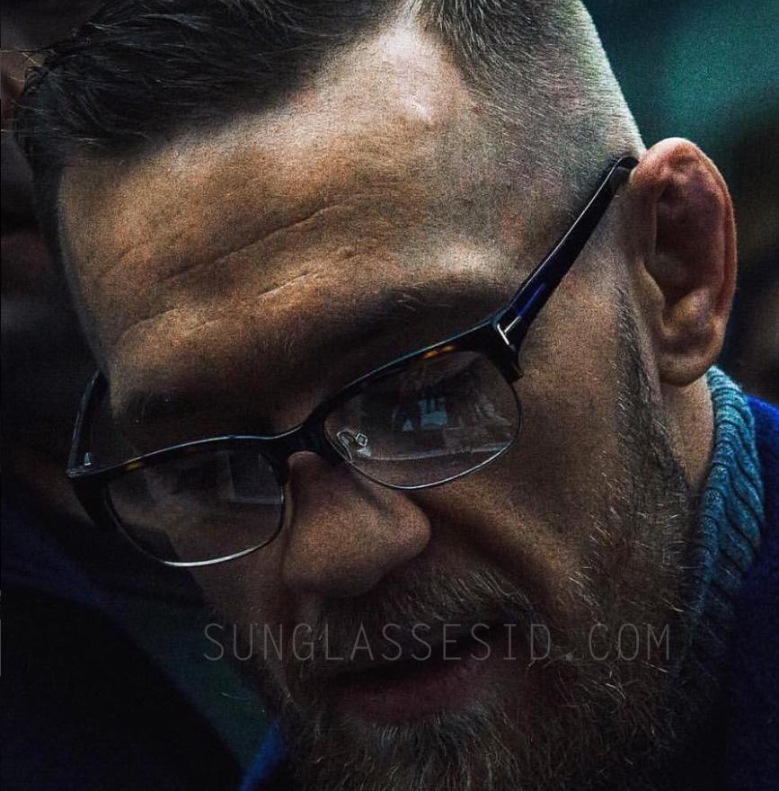 Conor McGregor wears Tom Ford 5307 eyeglasses (November 2016)