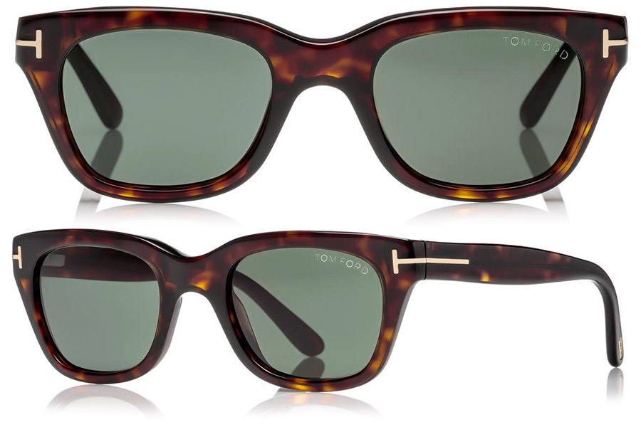 ea169b9f8a8 Ryan Reynolds Tom Ford Snowdon sunglasses are either Dark Havana (pictured  here) or Shiny