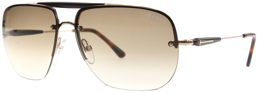 Tom Ford Nils FT0380, Havana and Rose Gold 28F