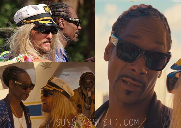 ecf3e9b95ee Snoop Dogg wears Versace VE4289 Medusa Gold Medal sunglasses in The Beach  Bum.